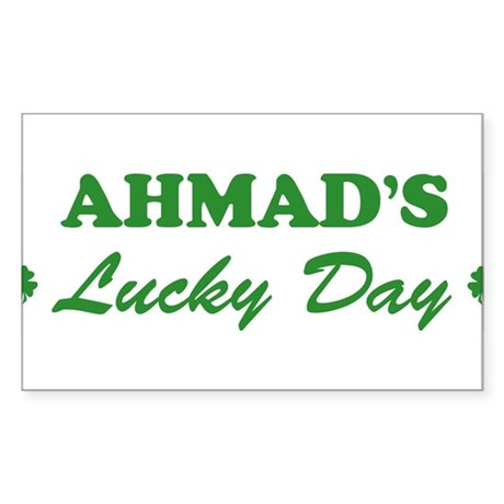AHMAD - lucky day Rectangle Sticker