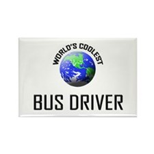 World's Coolest BUS DRIVER Rectangle Magnet (10 pa