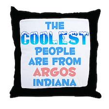 Coolest: Argos, IN Throw Pillow