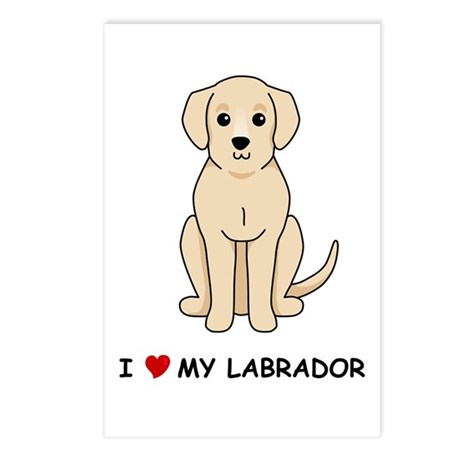 Yellow Labrador Postcards (Package of 8)