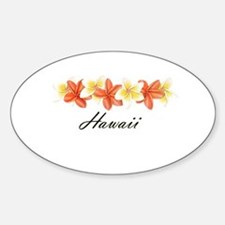 Plumeria Band Oval Decal