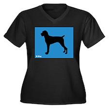 Pointer iPet Women's Plus Size V-Neck Dark T-Shirt