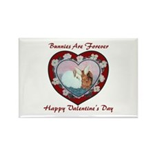 Valentine Rabbits Rectangle Magnet