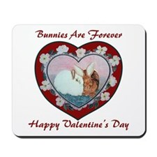 Valentine Rabbits Mousepad