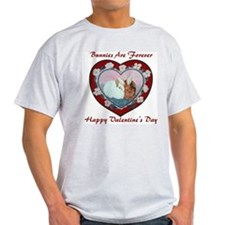 Valentine Rabbits Ash Grey T-Shirt