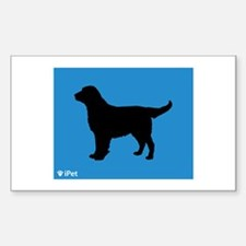 Flatcoat iPet Rectangle Decal