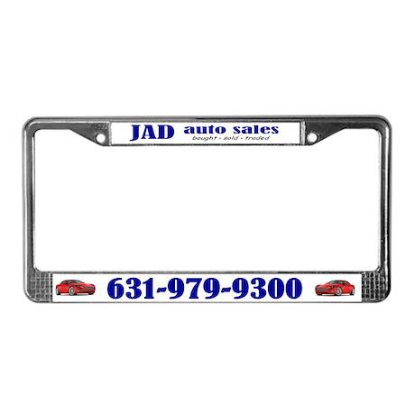 Jad Auto Sales License Plate Frame