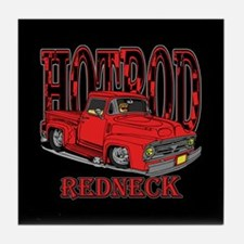 Redneck Hot Rod Tile Coaster