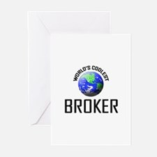 World's Coolest BROKER Greeting Cards (Pk of 10)
