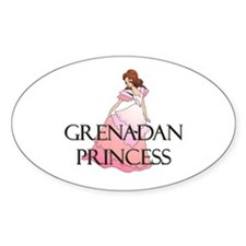 Grenadan Princess Oval Decal