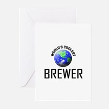 World's Coolest BREWER Greeting Cards (Pk of 10)