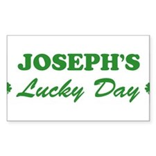 JOSEPH - lucky day Rectangle Decal