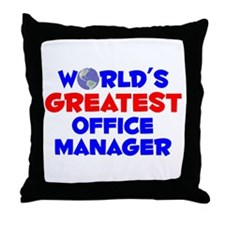 World's Greatest Offic.. (A) Throw Pillow