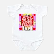 Don't IM Me Unless... Obama Infant Bodysuit