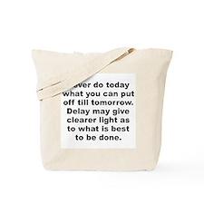 Burr quotation Tote Bag