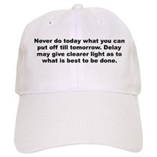 Unique Burr quotation Baseball Cap