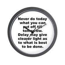 Cute Burr quotation Wall Clock