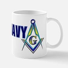 US Navy Masonic Mug