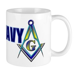 US Navy Masonic Mug