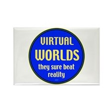 Virtual Worlds Rectangle Magnet
