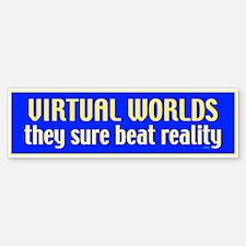 Virtual Worlds Bumper Bumper Bumper Sticker