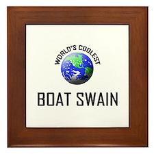 World's Coolest BOAT SWAIN Framed Tile