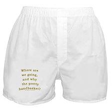 Hell in a Handbasket Joke  Boxer Shorts