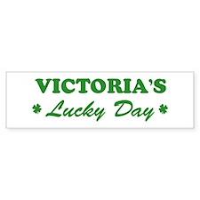 VICTORIA - lucky day Bumper Bumper Sticker