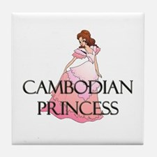 Cambodian Princess Tile Coaster