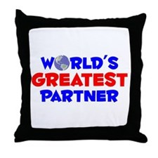 World's Greatest Partner (A) Throw Pillow
