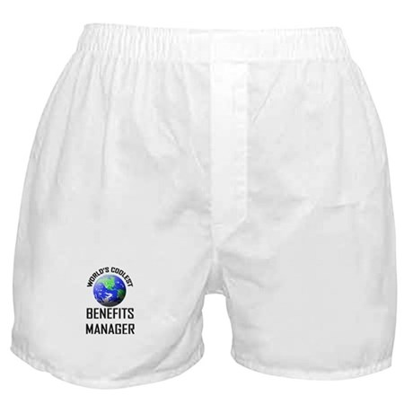 World's Coolest BENEFITS MANAGER Boxer Shorts