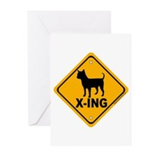 Chihuahua X-ing Greeting Cards (Pk of 20)