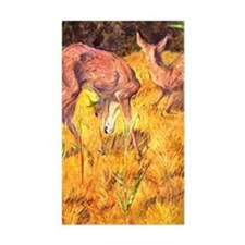 Deer in the Reed Rectangle Decal