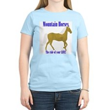 Mountain Horses, the ride of Women's Pink T-Shirt