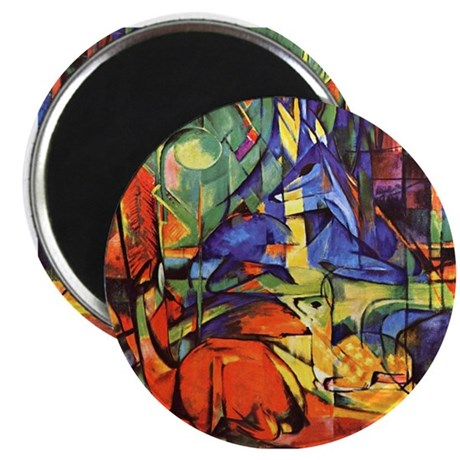 """Deer by Franz Marc 2.25"""" Magnet (100 pack)"""