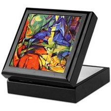 Deer by Franz Marc Keepsake Box