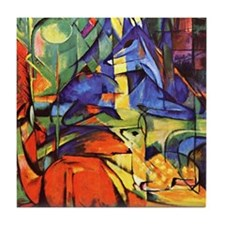 Deer by Franz Marc Tile Coaster