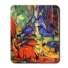 Deer by Franz Marc Mousepad