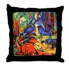 Deer by Franz Marc Throw Pillow