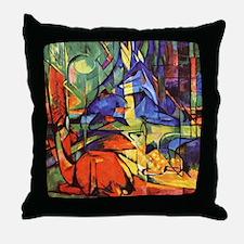 Deer by Franz Marc Throw Pillow