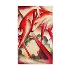 Deer by Franz Marc Rectangle Decal