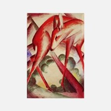 Deer by Franz Marc Rectangle Magnet