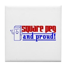 Ms. Square Peg Tile Coaster