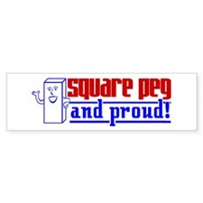Ms. Square Peg Bumper Bumper Sticker