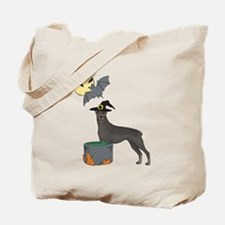 Doberman Witch Halloween Tote Bag