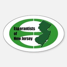 New Jersey Esperantist Oval Decal