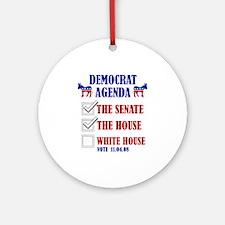 Democrat Agenda Ornament (Round)
