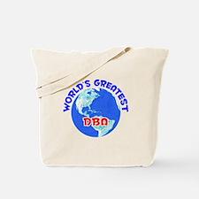 World's Greatest DBA (E) Tote Bag