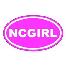 NC GIRL Pink Euro Oval Stickers