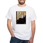 Whistler's Mother Maltese White T-Shirt